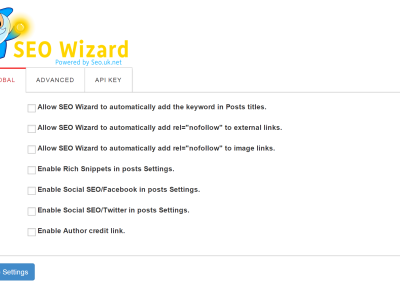Seo Wizard Main Settings